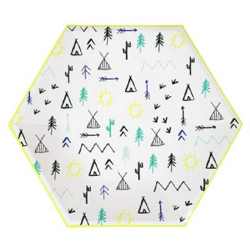 Let's Explore Paper Party Plates - pack of 12